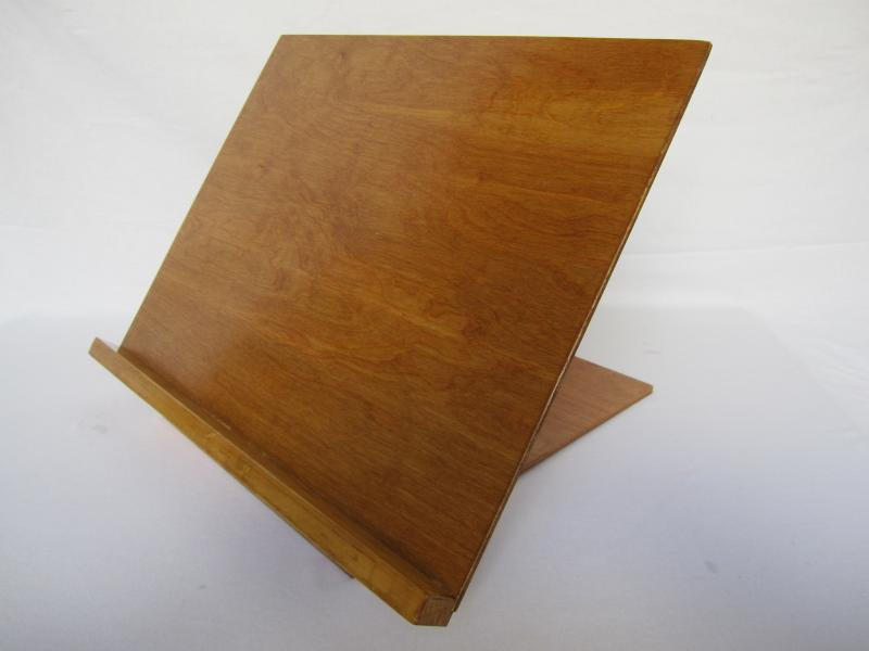 Desk Stand 50130n In Natural Wood Finish